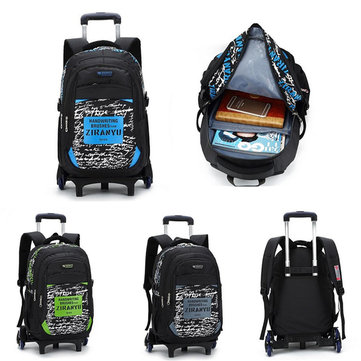 Trolley Backpack Children School Bags with 6 Wheels Children Kids Wheeled Bag