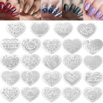 Nail Art Image Stamp Stamping Plates Manicure Template Flower Bird Pattern DIY Design Stencil