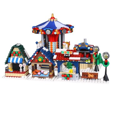 Natale Buon Go Around Giocattoli Block Building Educational Bambini Regalo 1412Pcs