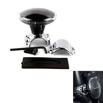 Hypersonic Black Steering Boosters Handle Grip Spinner Knob Steering Wheel Ball Booster Strengthener