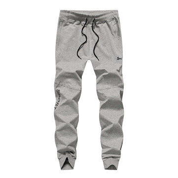Spring Autumn Mens Casual Trousers Fashion Slim Elastic Cotton Running Sweat Pants
