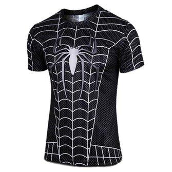 Aranha dos homens T casuais respirável wicking 3d impresso t-shirt manga curta