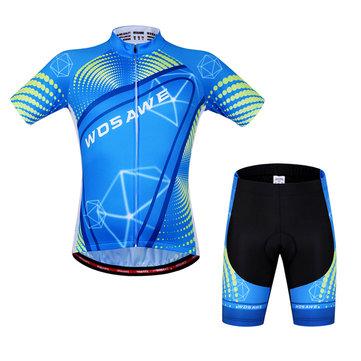 Pantaloncini da ciclismo Unisex WOSAWE adatta a bicchierino manica corta bicicletta Maglia sportiva Pantaloncini Estate Riflettente