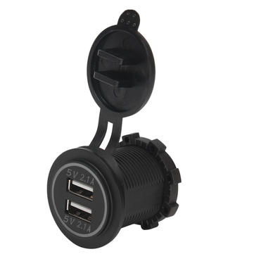 5V 4.2A Dual USB Charger Разъем AdapterPower Outlet для 12V 24V Авто мотоцикл