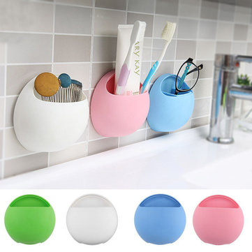 Bathroom Accessories With Suction Cups bathroom toothbrush toothpaste holder bath shaver organizer with