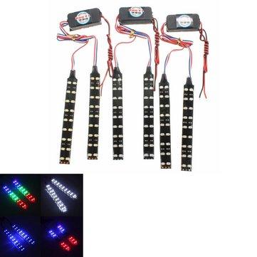 2pcs coda moto segnale di svolta freno 5050 18 LED s luce di striscia