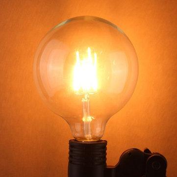 G125 6 واط e27 اديسون خيوط الدافئة الأبيض غلوب كوب أدى ضوء لمبة 220-240 فولت