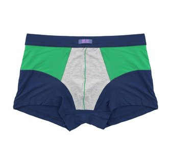 Mens False Two Piece Boxers Bamboo Fiber Large u Convex Color Splicing Underwear 6 Colors