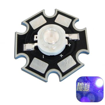 3W UV Ultraviolet LED Bead Light DIY Lamp Chip With 20mm Star Base