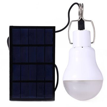 Solar Powered IP55 3.7W LED Lamp Bulb Outdoor Camping Emergency Lighting