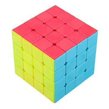 Classic Magic Cube 4x4x4 PVC Sticker Block Puzzle Speed Cube Novelties Toys