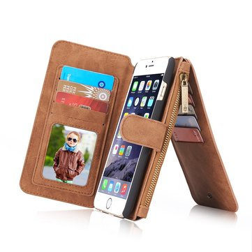 Caseme Magnetic Detachable Zipper Wallet Case For iPhone 6 6s 4.7 Inch