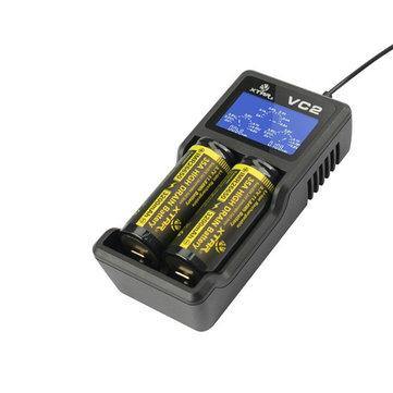 شتارVC2شاحنمعشاشةلد عرض ل 18650 26650 بطارية