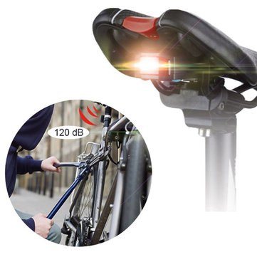 ANTUSI A4 Bicycle Wireless achterlicht Fiets Brake Alarm Lock Mountain Bike Smart Bell COB Tailight USB Charge