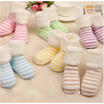 Baby Kids Bambino Lovely Warm Winter Autunno Cotton Sockes Indossare Accessori