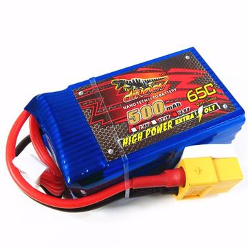 Giant Power Dinogy 500mAh 4S 14.8V 65C LiPo Battery With XT60 Plug For RC Airplane