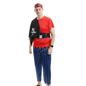 Halloween Pirate Costume Cosplay Costume Role Party Adult Clothes
