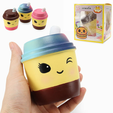 Xinda Squishy Melk Thee Cup 10cm Zacht Slow Rising Met Packaging Collection Gift Decor Toy