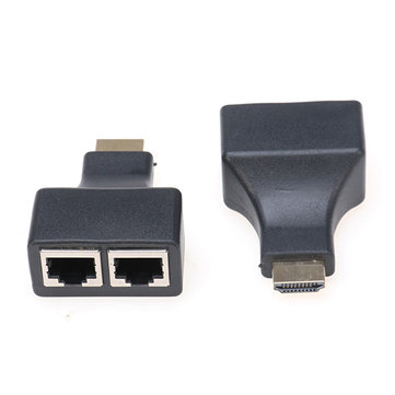 2 Pcs High Definition Multimedia Interface to Dual RJ45 Extender Support 1080P 3D For HDTV HDPC STB