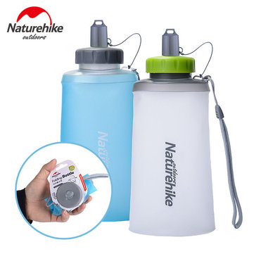 500ml 750ml TPU Silicone Opvouwbare Vouwwaterfles Outdoor Sport Draagbare Zachte Watertas