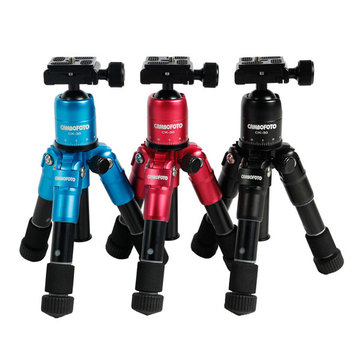 CamboFoto M225 + CK30 Portable mini Folding Ultra Aluminium Compact Tripod Kit met Ball Head voor Canon Nikon DSLR Digitale Camera Camcorder