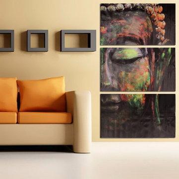 40x60 سنتيمتر بوذا التماثيل الثلاثي فرملس قماش يطبع النفط اللوحة جدار الفن تزيين المنزل