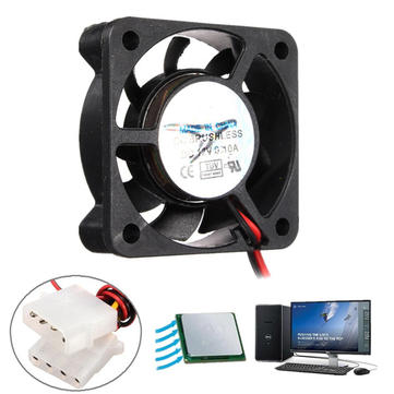 40mm x 40mm x 10mm 12V 4 Pin Internal Computer CPU Cooling Fan Desktop Cooler Fan