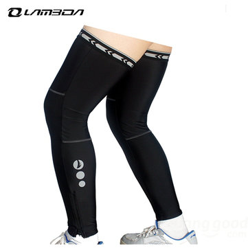 LAMBDA BicyclE-bicicleta de montaña Viento y protector solar Sección delgada Riding Leg Sleeve Equipment