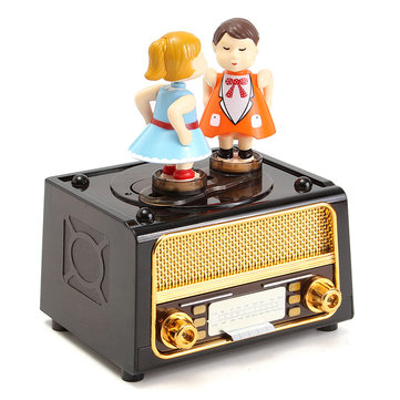 Plastic Classic Music Box Retro style Cute Kids for Kids Toys Gift