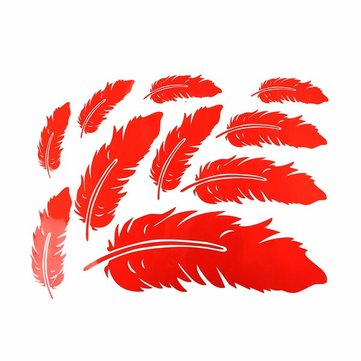 Car Feather Stickers Scratch Decoration Wings