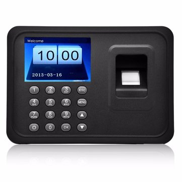 Danmini 2.4inch TF biometrische vingerafdruk Password Access Attendance Time Clock