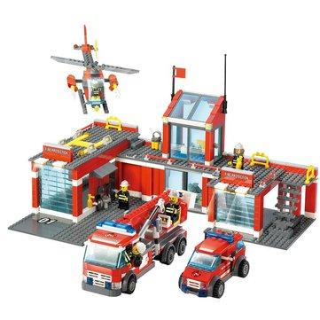 Kazi 8501 Fire Station Bouwblok Sets Speelgoed Educatieve Cadeau Fidget Toys 774Pcs