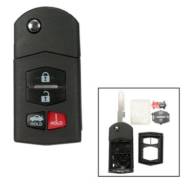 4 Button Remote Key Fob Case Shell Blade For Mazda 3 5 6 RX8 CX7 CX9 Replacement