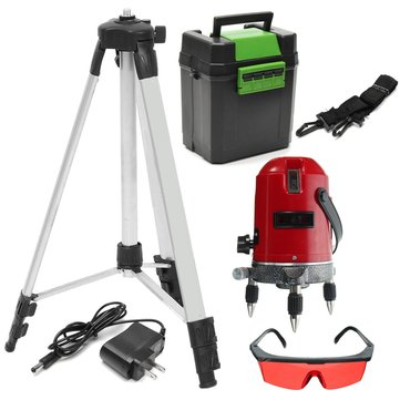 Red 5 Line 6 Point Láser Level 360 ° Rotary Self Leveling Láser Level with trípode