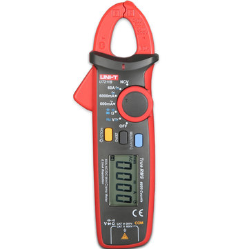 UNI-T UT211B Multifunction 6000 Count True RMS Mini Clamp Meter Multimeter with V.F.C. NCV Test & Zero Mode