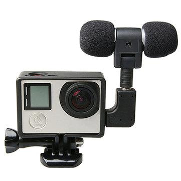 Harici Mikrofon, Mikrofon Adaptörlü Standart Çerçeve Kit GoPro Hero için uygun 4 3 Plus 3