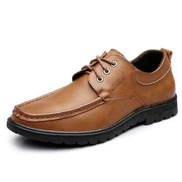 HerenSoftSoleMocToeStitching Comfy Cow Leather Oxfords Shoes