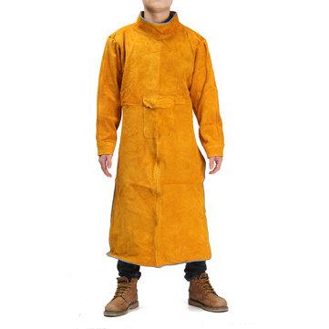 Durable Leather Welding Long Coat Delantal Ropa protectora Ropa Traje