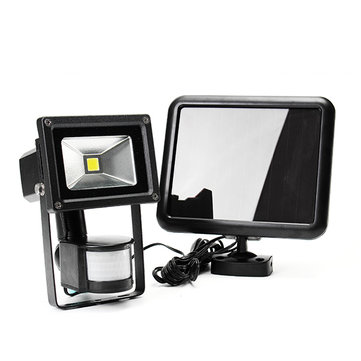 ARILUX® 5W Solar Power PIR Motion Sensor COB LED Adjustable Flood Light Outdoor IP44 Security Lamp