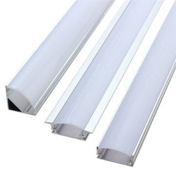 50CM Aluminum Channel Holder For LED Strip Light Bar Under Cabinet Lamp