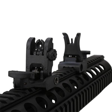 AURKTECH 20mm Hunting Plastic Troy Folding Battle Rear Iron Sight