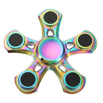 ZinklegeringVijfBladerenFidgetHandSpinner ADHD Autisme Verminder Stress Focus Attention Toys