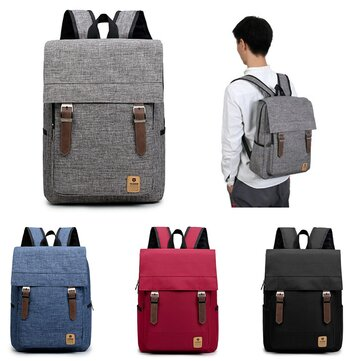 Uomo Donna Casual Canvas Laptop Backpack Borse da viaggio per zaino da viaggio