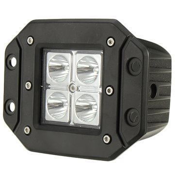 12W 1320lm 6000K IP67 LED Work Headlight Spot Lightt Condenser Flood Light Universal For Car SUV  OVOVS