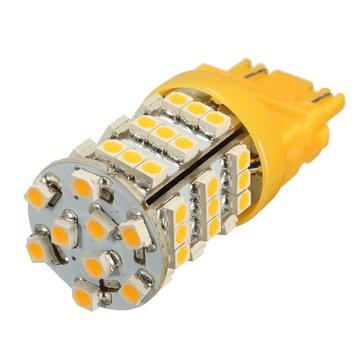 Universal 3157 Amber Yellow 54SMD LED Turn Signal Blinker Corner Light Lamp Bulb