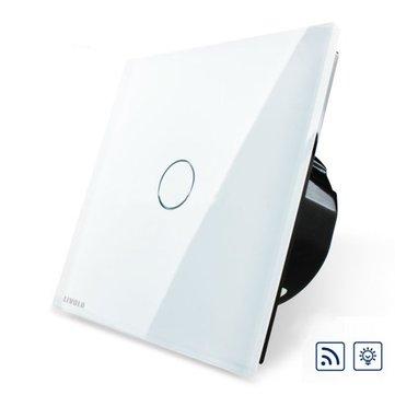 Livolo vidro branco dimmer e painel de toque remoto eu interruptor vl-c701dr-11