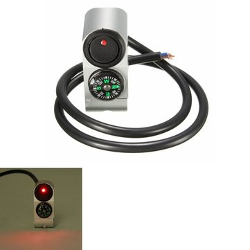 22mm Aluminum Motorcycle Handlebar Switch with Signal Light & Compass