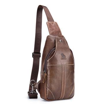 Echte lederen Vintage Crossbody Bag Vrije zakelijke reistas voor mannen