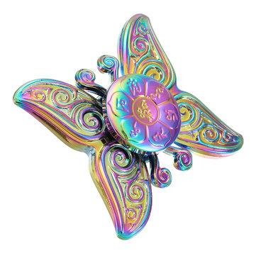 ECUBEE سبائك الزنك اليد سبينر الفراشة شكل إصبع سبينر فيدجيت الدوار تقليل الإجهاد