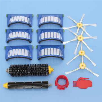 Buy 14pcs Vacuum Cleaner Accessories Kit Filters and Brushes for iRobot Roomba 600 Series for $17.99 in Banggood store